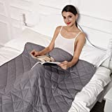 New Version Weighted Blanket by Hypnoser for Child and Adults, Great for ADHD, Autism, OCD, and SPD (60''x80'' 15 Lbs, Inner Layer Dark Grey)