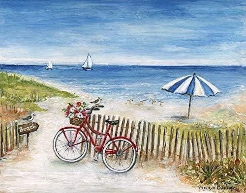 Imagen – Marilyn Dunlap : Playa Ride II Foto en Lienzo Playa Bicicleta Mar Vacaciones Vacaciones - 65x80 cm: Amazon ...
