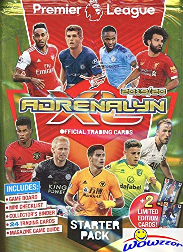 2019/20 Panini Adrenalyn XL English Premier League Soccer HUGE Factory Sealed STARTER Kit with Collectors Album, Game Board, Guide, Checklist, 24 Cards & (2) EXCLUSIVE Limited Edition Cards! WOWZZER!