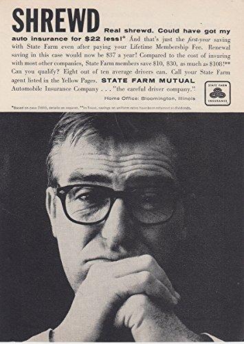 1958 State Farm Insurance  Shrewd  State Farm Insurance Print Ad