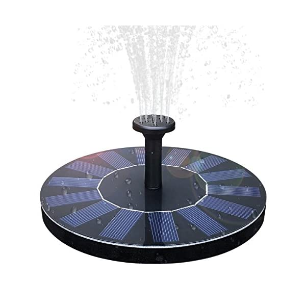 51Am3rBySFL. SS600  - Solar Fountain,Solar Powered Bird Bath Fountain Pump 1.4W Solar Panel Kit Water Pump,Outdoor Watering Submersible Pump for Fish Tank,Garden,Pool,Pond,Aquarium