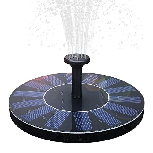 51Am3rBySFL - Solar Fountain,Solar Powered Bird Bath Fountain Pump 1.4W Solar Panel Kit Water Pump,Outdoor Watering Submersible Pump for Fish Tank,Garden,Pool,Pond,Aquarium