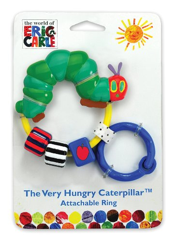 World of Eric Carle, The Very Hungry Caterpillar Attachable Bead Rattle Kids Prefered 96744