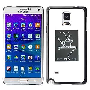 Be Good Phone Accessory // Dura Cáscara cubierta Protectora Caso Carcasa Funda de Protección para Samsung Galaxy Note 4 SM-N910 // Blueprint Engineering Poster White