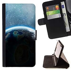 Momo Phone Case / Flip Funda de Cuero Case Cover - Tierra Estrellas Sol Azul Planeta extranjero - Sony Xperia M5