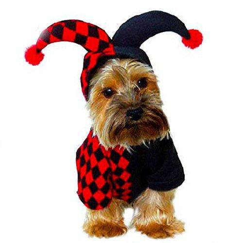[Pet Clothes,IEason Hot Sale! 2017 Hallowmas Evil Spirit Pet Print Cute Puppy Dog Mush Drag Clothing (XS, Red)] (Drag Artists Costumes)