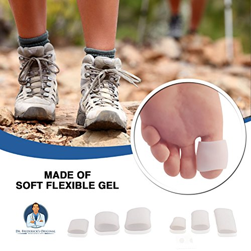 Dr Frederick's Original Gel Toe Tubes 12 Piece Variety Pack - Small, Medium and Large Sizes - Toe Protectors & Separators for Calluses - Blisters - Corns by Dr. Frederick's Original (Image #3)