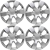 OxGord Hubcaps for 16 inch Standard Steel Wheels (Pack of 4) Wheel Covers - Snap On, Silver