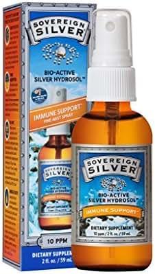 Sovereign Silver Bioactive Silver Hydrosol 10 PPM Fine Mist Spray, 2 oz.