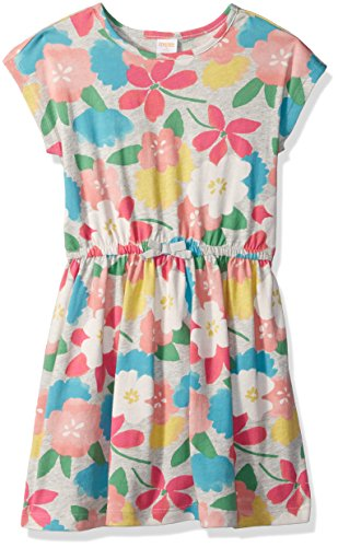 Gymboree Big Girls' Favorite Drop Waist Knit Dress, Floral Multi, (Girls Drop Waist Dress)