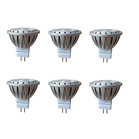 HAISHA MR11 GU4 LED Bombillas,3W, 35W Halógenos equivalentes, 2700K, 250lm,