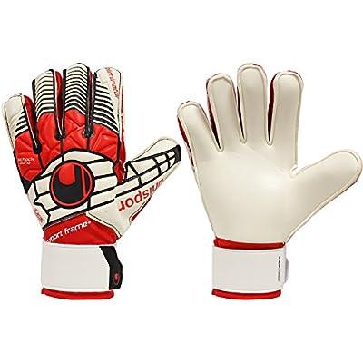 uhlsport Boys ELIMINATOR SOFT SUPPORTFRAME + FINGER & THUMB PROTECTION JUNIOR Goalkeeper Gloves For Soccer