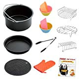 Air Fryer Accessories 8 Inch for 5.8 qt XL Air Fryer, 9 pieces for Gowise Phillips and Cozyna Air Fryer, Fit 4.2 qt to 5.8 qt, ONLY sell from FamilyLike, All Others are FAKE!!