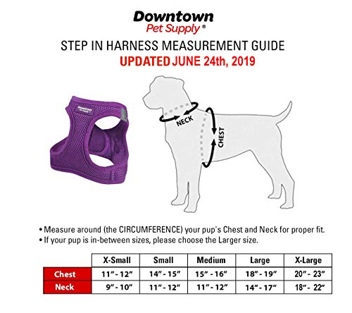 Downtown Pet Supply No Pull, Step in Adjustable Dog Harness, Easy to Put on Small, Medium and Large Dogs