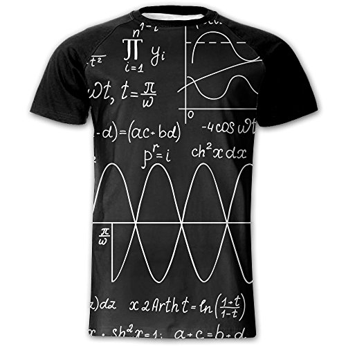 Math Formula Adult Funky Raglan T Shirt Quick Dry Undershirts Short Sleeve Sports Jersey Shirts (Pointelle Jersey Dress)