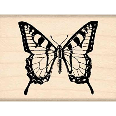 Stamps by Impression Butterfly Rubber Stamp: Arts, Crafts & Sewing