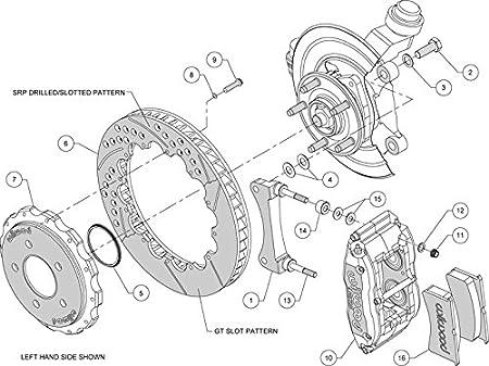 Amazon Com New Wilwood Full Front Disc Brake Kit 14 Drilled