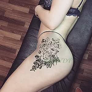 3 Piezas Etiqueta engomada del Tatuaje Mariposa peonía Tatto Flash ...