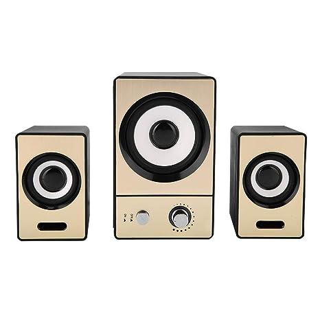 Vbestlife SADA 2.1 Altavoces para Ordenador Sonido Envolvente Estéreo Altavoces con Subwoofers con Cancelación de Ruido