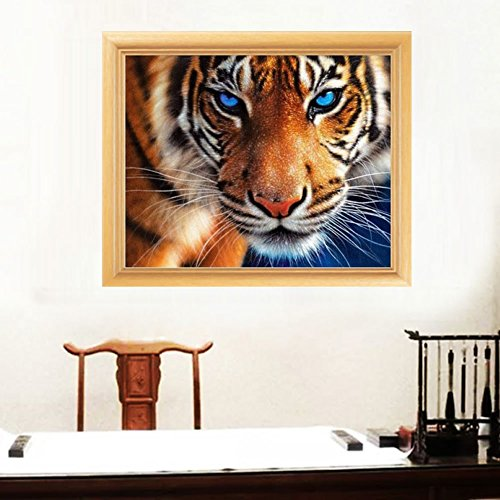 Wivily 5D DIY Diamond Painting Of Crystals Embroidery Patchwork A Big Tiger Cross Stitch