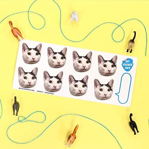 Custom Face Stickers, Custom Stickers, Stickers of Your Pet, 1.75'' Sticker Sheet - 5 Pack - Pet Gift