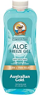 product image for Australian Gold Aloe Vera Freeze Gel with Lidocaine, 8 Ounce | Relieves Sunburn Pain and Hot & Itchy Skin