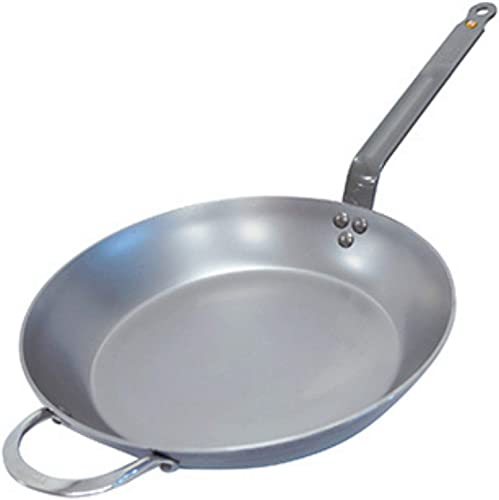De Buyer Mineral B Round Carbon Steel Fry Pan 12.5-Inch