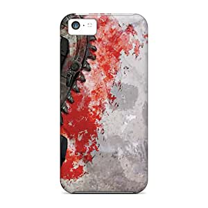 Protective Cell-phone Hard Covers For Iphone 5c With Custom High Resolution Gears Of War 3 Image JonathanMaedel