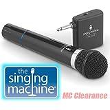 Microphone Wireless Singing Machine SMM-107 Uni-Directional Dynamic - Black (Certified Refurbished)