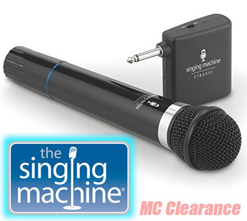 Price comparison product image Microphone Wireless Singing Machine SMM-107 Uni-Directional Dynamic - Black (Refurbished)
