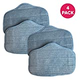 Crucial Vacuum Replacement Mop Pads Part # A275-020 - Compatible with SteamMax - Measures 12.7' X 7' X 0.1' Inches - Pad Parts Fit Models SF275, SF370 for Home, Office - Bulk Packs (4 Pack)