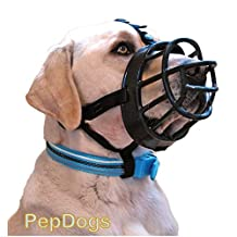 Baskerville Ultra Dog No Bite Muzzle Comfortable Soft Plastic Mesh Basket Black