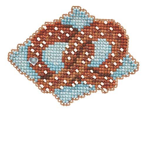 Pretzel Beaded Counted Cross Stitch Ornament Kit Mill Hill 2019 Autumn Harvest MH181926