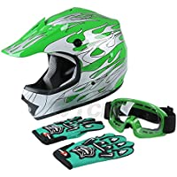 TCMT Dot Youth & Kids Motocross Offroad Street Helmet...