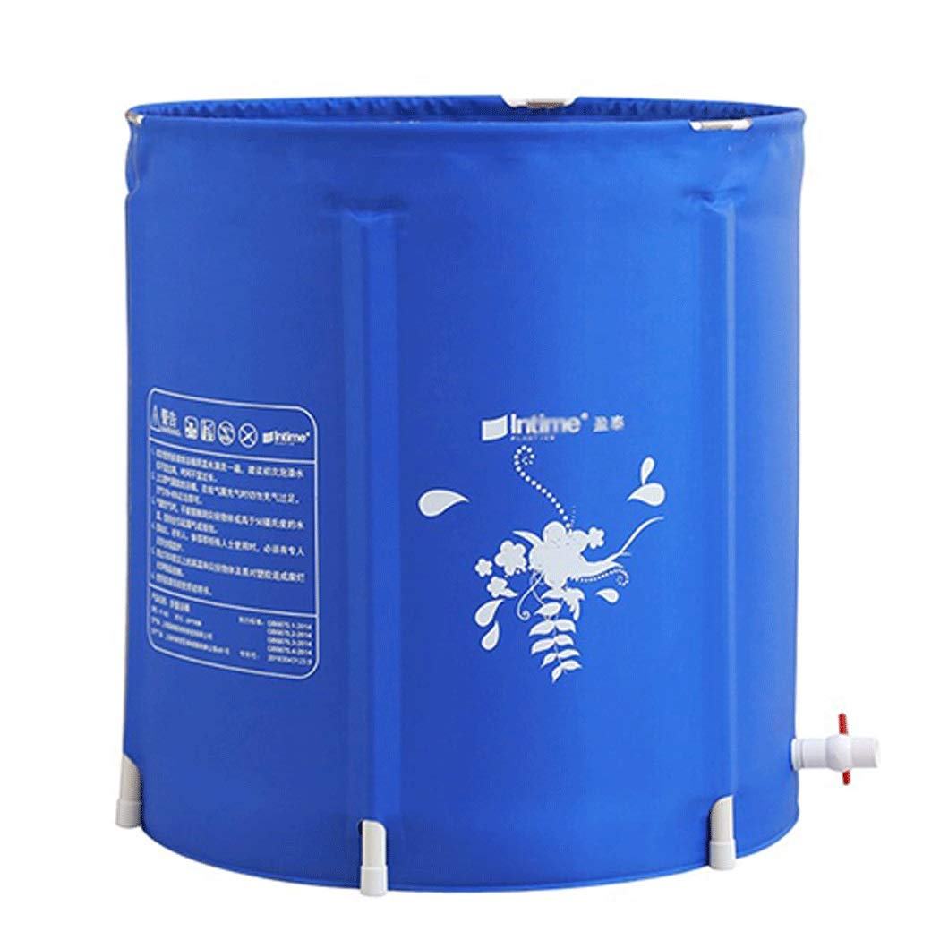 YONGYONG Household Blue Bath Bucket Thick Foldable Swimming Bath Tub 65CM*68CM (Color : A, Size : 65CM*68CM)