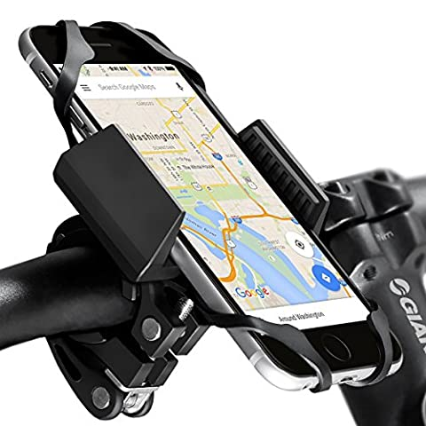 Widras Bike Mount and Motorcycle Cell Phone Holder 2nd Gen | E bike Mount For iPhone 7| 6s 5s Plus | Samsung Galaxy S5 S6 S7 S8 Note or any Smartphone & GPS| Mountain & Road Bicycle Handlebar - Motorcycles Accessories