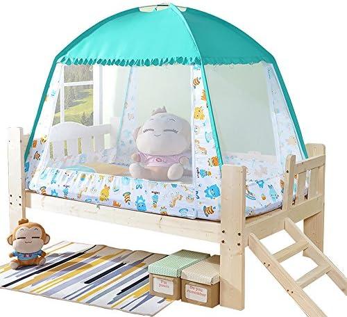 유아용 모기장 어린이용 원터치 모기장 텐트 식 모기 인터넷 폴딩 지 네 모기 방지 방충제 에어컨 냉 풍 차양 간단 설치 간단 수납 (120 * 65 * 90cm 1 도어 타입) / Baby Mosquito Net Children`s One Touch Mosquito Net Tent Mosquito Net Foldin...