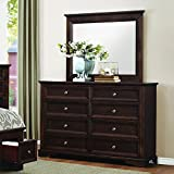 Homelegance Eunice 8 Drawer Dresser & Mirror in Espresso - (Dresser Only)
