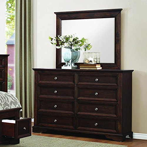 Homelegance Eunice 8 Drawer Dresser & Mirror in Espresso - (Dresser Only) by Homelegance