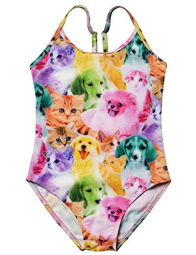 3924ba6d1b22b Girls Unicorn Swimsuits One Piece Swimwear Bathing Suits Rash Guard UPF 50+