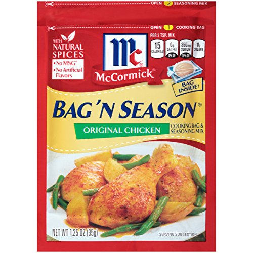 McCormick Bag 'n Season Original Chicken Cooking & Seasoning Mix, 1.25 oz