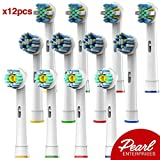 Beauty : Pearl Enterprises Replacement Electric Toothbrush Heads – Pack Of 12 Assorted Heads – Try Them All You'll Find Your Favorite…