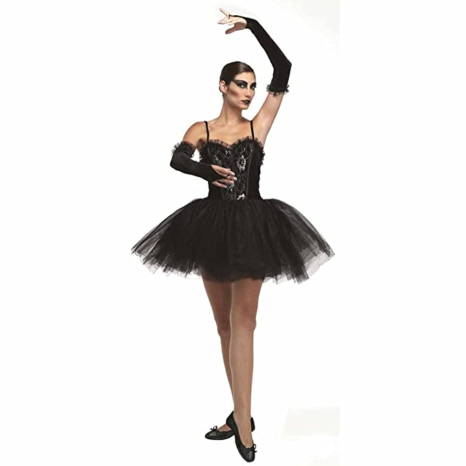 adult ladies gothic black swan gothic ballerina costume (Women: 12 ...