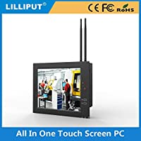 LILLIPUT PC-1041/C/T 10.4 AIO Industrial Computer WITH 800X600 NATIVE RESOLUTION 5 WIRE TOUCH SCREEN PANEL with 4 GB or RAM, 60 GB SSD and WIFI