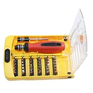 Jackly - Juego de destornillador con puntas de precisión (38 en 1, para equipos electrónicos, T3, T4, T5, T6, T7, T8, T9, T10, T15 y T20)