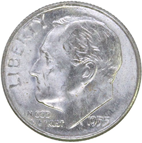 1955 P Silver Roosevelt Dime 10C BU