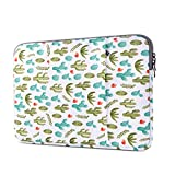 Lamyba Protective Laptop Sleeve Bag for 13-13.3 Inch MacBook Air | Pro Retina Late 2012 - Early 2016,12.9 Inch iPad Pro Case Cover with Accessory Pocket Waterproof Cactus,Green