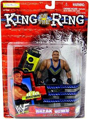 WWF King of the Ring D'lo Braun Break Down in your house action figure