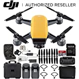 DJI Spark Portable Mini Drone Quadcopter Fly More Combo Water Proof Hard Case Bundle (Sunrise Yellow)