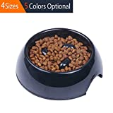 pink slow feed dog bowl - SUPER DESIGN Heavy Duty Melamine Non-skid Slow Feed Pet Bowl For Dogs and Cats M Black